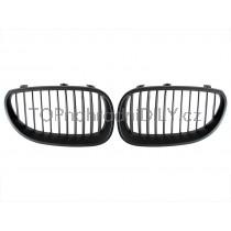 Přední maska chladiče černa matná, 1 pár, BMW řada 5 E60 03-10