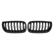 Přední maska chladiče černa matná, 1 pár, BMW X3 E83 03-06