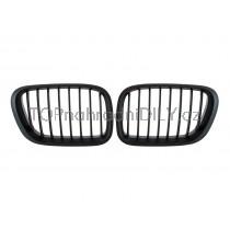 Přední maska chladiče BMW X5 E53 03-06 černá matná,1 pár