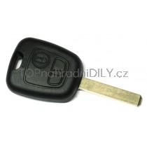Obal klíče, autoklíč pro Citroen C6 dvoutlačítkový