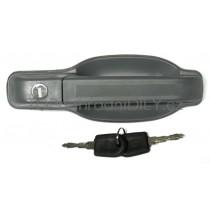 Klika venkovní - přední pravé, boční posuvné a zadní dveře pro Iveco Turbo Daily, šedá.