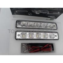 LED Denní osvětlení DRL 19, 5 LED diod