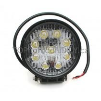 LED Pracovní světlo 27W, Kulaté