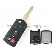 Obal klíče, autoklíč pro Mazda RX-8, štvortlačítkový