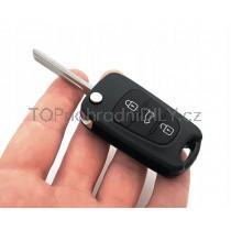 Obal klíče, autoklíč pro Hyundai i20, trojtlačítkový