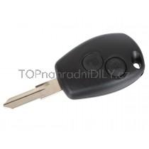 Obal klíče, autoklíč pro Renault Master III, dvoutlačítkový, ostrý hrot
