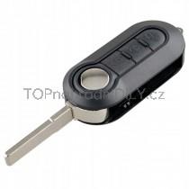Obal klíče, autoklíč pro Fiat 500, trojtlačítkový,