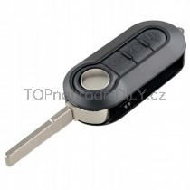 Obal klíče, autoklíč pro Fiat Punto, trojtlačítkový