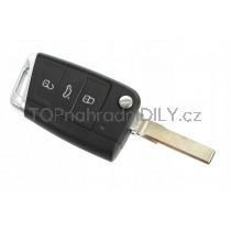 Obal klíče, autoklíč pro VW Golf MK7, trojtlačítkový