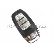 Obal klíče, autoklíč, trojtlačítkový pro Audi A7, chrom
