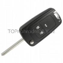 Obal klíče, autoklíč pro Opel Insignia, trojtlačítkový