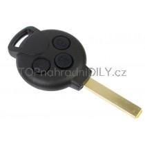 Obal klíče, autoklíč pro Smart Fortwo, trojtlačítkový