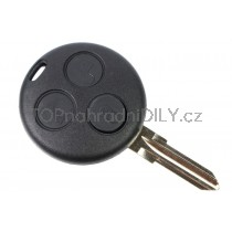 Obal klíče, autoklíč pro Smart Fortwo, trojtlačítkový, černý