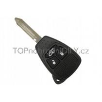 Obal klíče, holoklíč pro Dodge Charger, 3 tlačítkový
