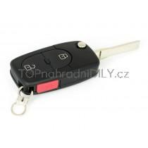 Obal klíče, autoklíč pro Audi A2, dvoutlačítkový