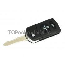 Obal klíče, autoklíč pro Mazda 3, trojtlačítkový