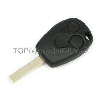 Obal klíče, autoklíč pro Renault Thalia, trojtlačítkový