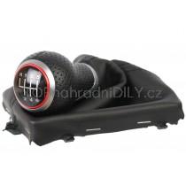 Řadicí páka s manžetou Audi Q5 8R, 6 stupňová, červený kroužek 1