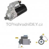 Startér pro VW Passat B7 10-14, CS1286