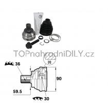 Sada kloubů hnacího hřídele pro VW Scirocco, 1K0498099E