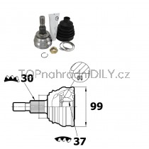 Sada kloubů hnacího hřídele pro Mercedes W251, V251 R-Třída, 1643300801