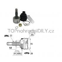 Sada kloubů hnacího hřídele pro Opel Tigra, 26032411