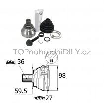 Sada kloubů hnacího hřídele pro VW Passat B6, 1K0498099B