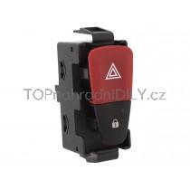 Vypínač výstražných světel Dacia Sandero II, červený 1